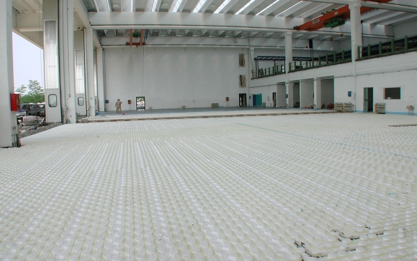 impianto riscaldamento radiante capannone