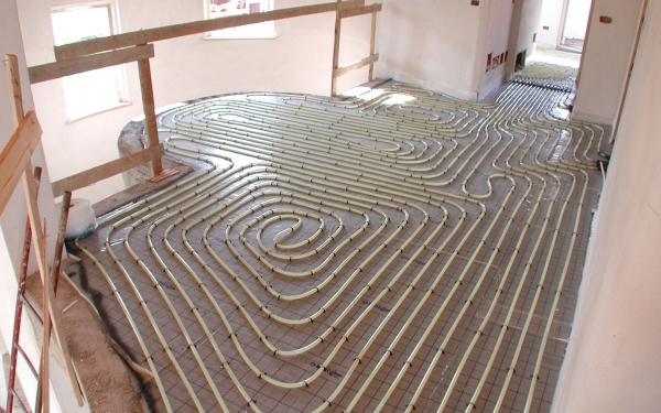impianto pavimento radiante