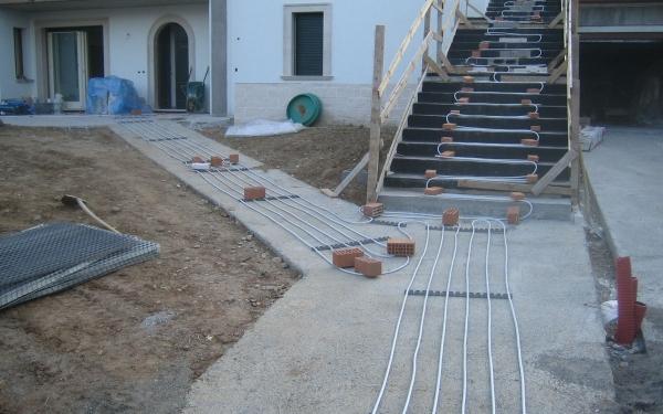 impianto snevamento radiante vialetto pedonale